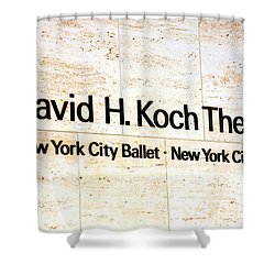 David H. Koch Theater Shower Curtain