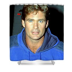 David Hasselhoff 1991 Shower Curtain