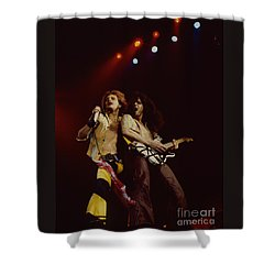 David Lee Roth And Eddie Van Halen - Van Halen- Oakland Coliseum 12-2-78   Shower Curtain
