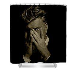David Lynch Hands Shower Curtain
