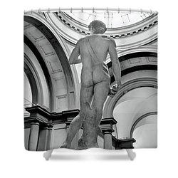 David.black White  Shower Curtain by Jennie Breeze