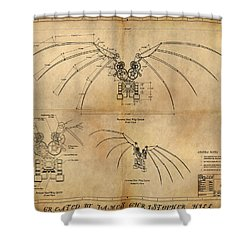 Davinci's Wings Shower Curtain by James Christopher Hill