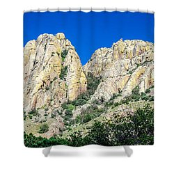 Davis Mountains Of S W Texas Shower Curtain