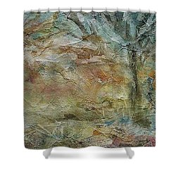 Shower Curtain featuring the painting Dawn 2 by Mary Wolf