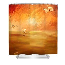 Dawn Shower Curtain by Angela A Stanton