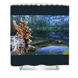 Shower Curtain featuring the photograph Dawn Arrives At Eagle Lake by Sean Sarsfield