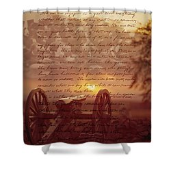 Dawn At Gettysburg Shower Curtain