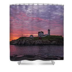 Dawn At The Nubble Shower Curtain
