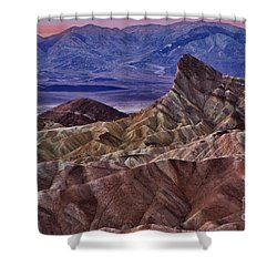 Dawn At Zabriskie Point Shower Curtain by Jerry Fornarotto