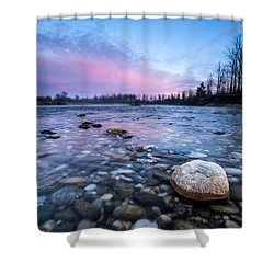 Dawn Shower Curtain by Davorin Mance