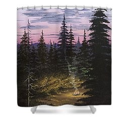 Dawn Fire Shower Curtain