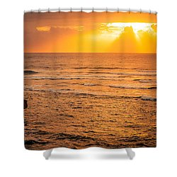 Dawn Fisherman Shower Curtain