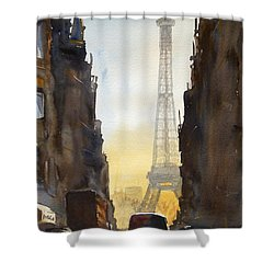 Dawn In Paris Shower Curtain by James Nyika