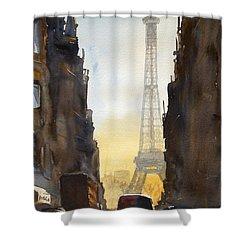 Dawn In Paris Shower Curtain