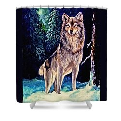 Shower Curtain featuring the painting Dawn Of A New Day Original Painting Forsale by  Nadine Johnston