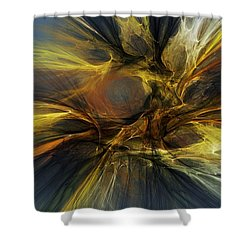 Shower Curtain featuring the digital art Dawn Of Enlightment by David Lane