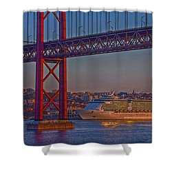 Dawn On The Harbor Shower Curtain