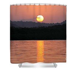 Dawn Over Darien Shower Curtain by James Brunker
