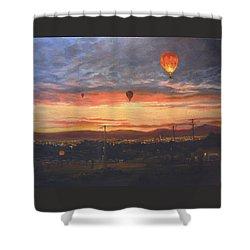 Dawn Patrol Shower Curtain