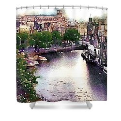 Dawn Rain Amsterdam Shower Curtain by Susan Maxwell Schmidt