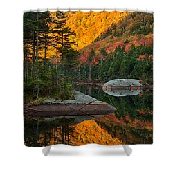 Dawns Foliage Reflection Shower Curtain