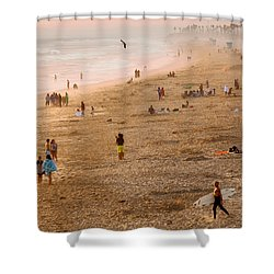 Day At The Beach - Sunset Huntington Beach California Shower Curtain