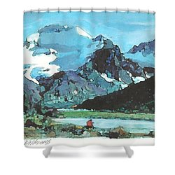Day In The Wilderness Shower Curtain by Joseph Barani