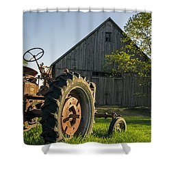 Day Is Done Shower Curtain by Edward Fielding