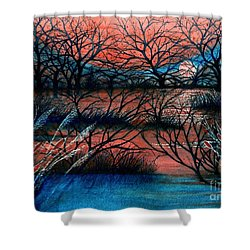 Day Is Done October Sky Shower Curtain