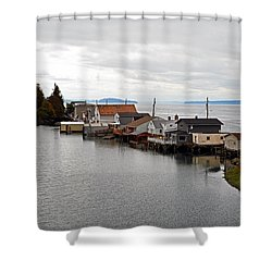 Day Island Bridge View 1 Shower Curtain