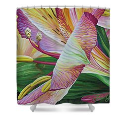 Shower Curtain featuring the painting Day Lilies by Jane Girardot