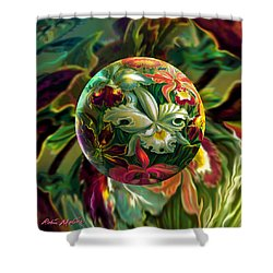 Shower Curtain featuring the painting Day Lily Dreams by Robin Moline