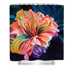 Shower Curtain featuring the painting Day Lily by LaVonne Hand