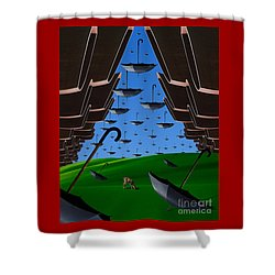 Day Of The Bumbershoots Shower Curtain by Keith Dillon