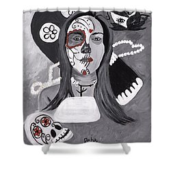 Day Of The Dead Shower Curtain by Reba Baptist