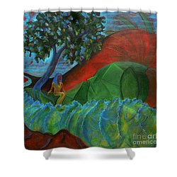 Uncertain Journey Shower Curtain by Elizabeth Fontaine-Barr
