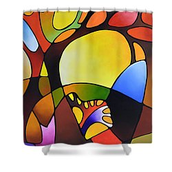 Daydream Canvas Three Shower Curtain