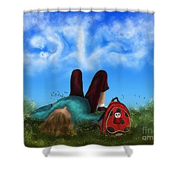 Shower Curtain featuring the digital art Daydreaming by Rosa Cobos
