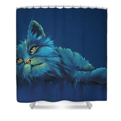 Shower Curtain featuring the drawing Daydreams by Cynthia House