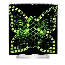 Dayglo Butterfly Shower Curtain by Lisa Brandel