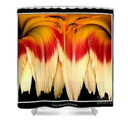 Daylily Flower Abstract 2 Shower Curtain by Rose Santuci-Sofranko