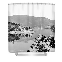 Dayliner At The Narrows In Black And White Shower Curtain