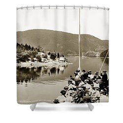 Dayliner At The Narrows In Sepia Tone Shower Curtain