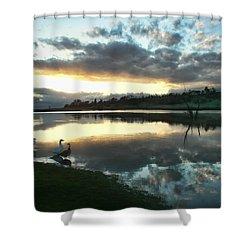 Days End At Horseshoe Lake  Shower Curtain