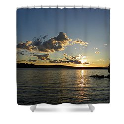 Day's End At Schoodic Lake Shower Curtain