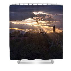Shower Curtain featuring the photograph Days End by Dan McManus