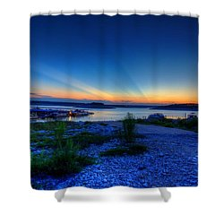 Shower Curtain featuring the photograph Days End by Dave Files