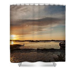 Days End Shower Curtain by John M Bailey