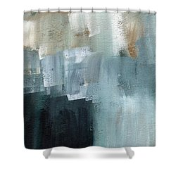 Days Like This - Abstract Painting Shower Curtain by Linda Woods