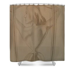Shower Curtain featuring the drawing Days Of Our Lives by Thomasina Durkay